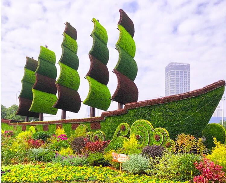 云南廣場綠雕|宿遷廣場綠雕專業制作商