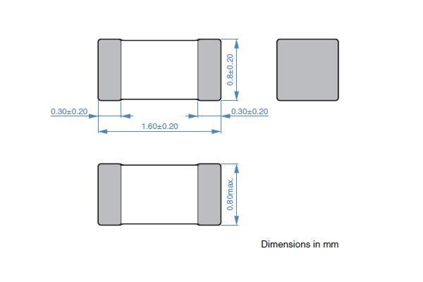 TDK电感电子手表用TFM160808ALC-R47MTAA
