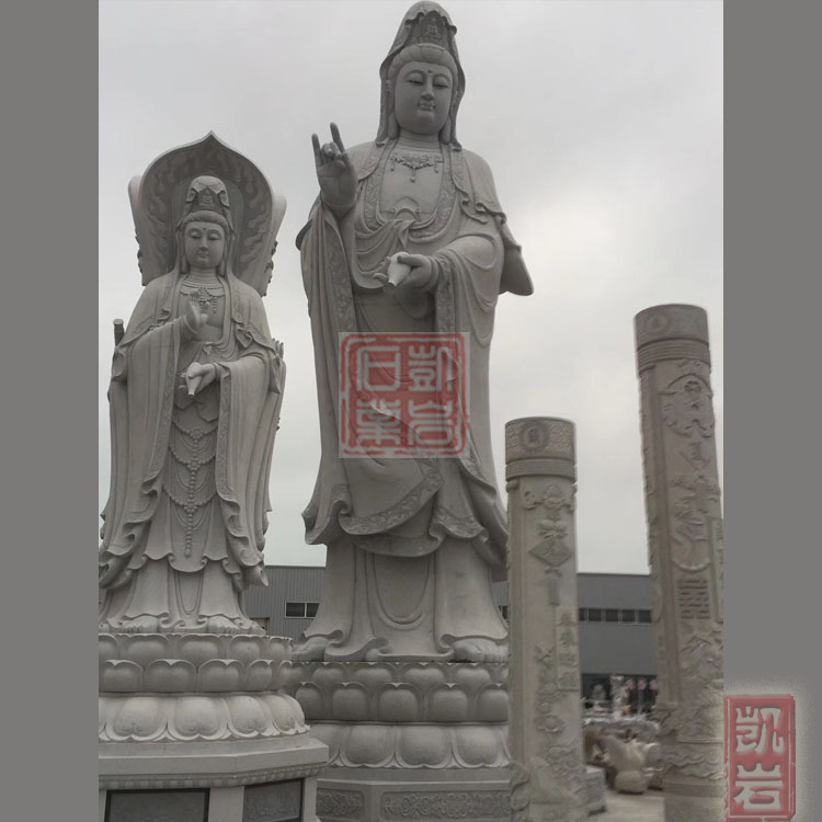惠安石雕滴水觀音加工廠   寺院觀音菩薩供應廠家