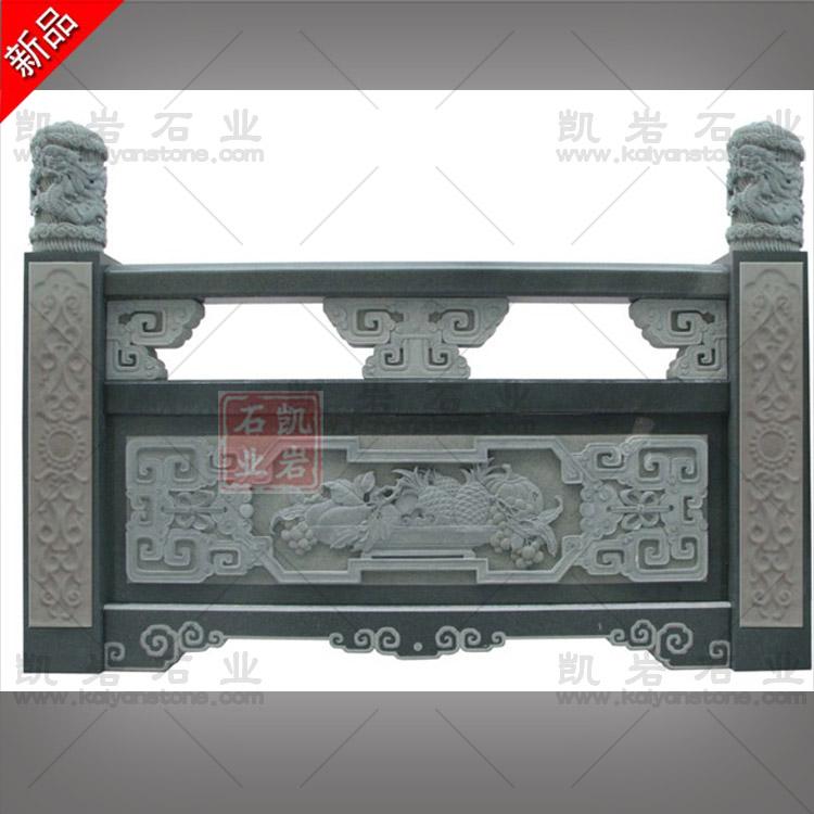 惠安石雕栏杆厂家 寺院石栏杆加工厂