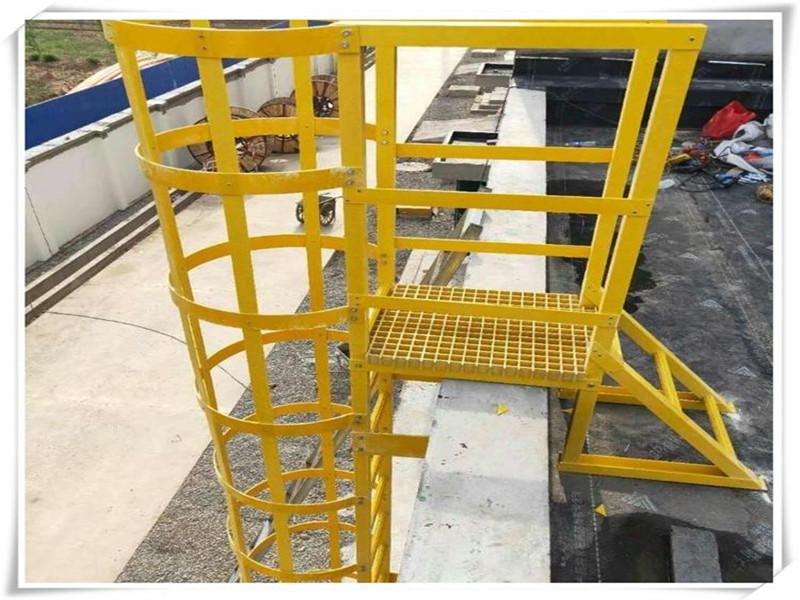 定制 玻璃钢直爬梯 玻璃钢工业爬梯 玻璃钢深井爬梯