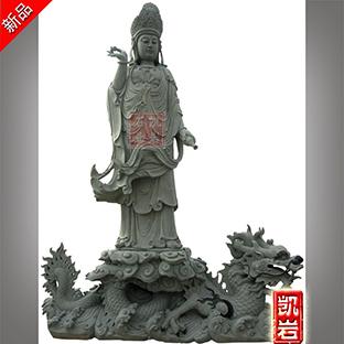 惠安石雕骑龙观音菩萨雕刻