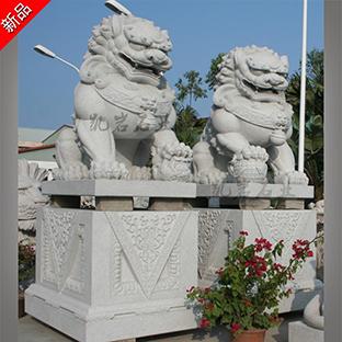 惠安石雕獅子哪家做工好  動物石雕獅子供應商