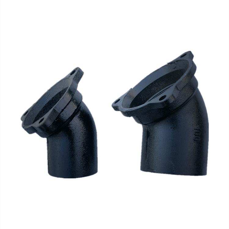 A型铸铁管A型45度弯头及各种管件