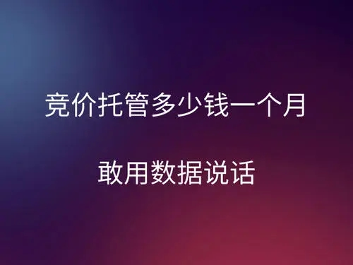 深圳競價托管,推廣無效果啦——找樂江競價托管