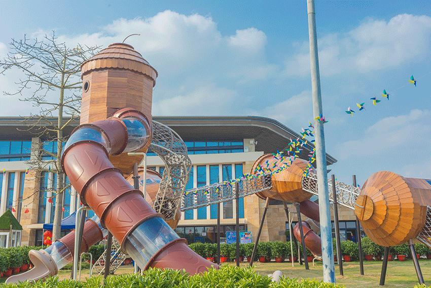 郑州【木质滑梯】 游乐设备 【乐可岛】