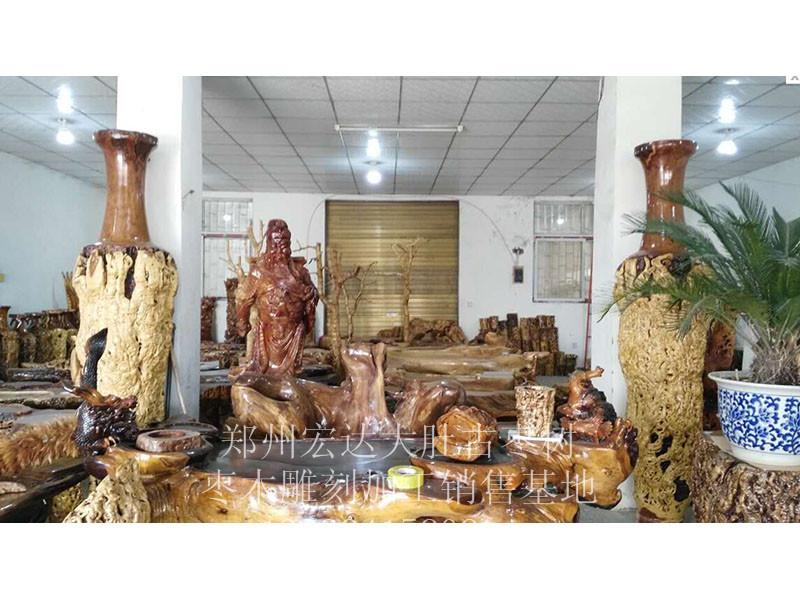 枣木花瓶定制报价-买口碑好的枣木花瓶-就到宏达根艺雕刻中心