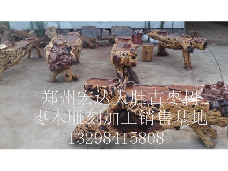 驻马店枣木茶台定制-精巧的枣木茶台宏达根艺雕刻中心优惠供应