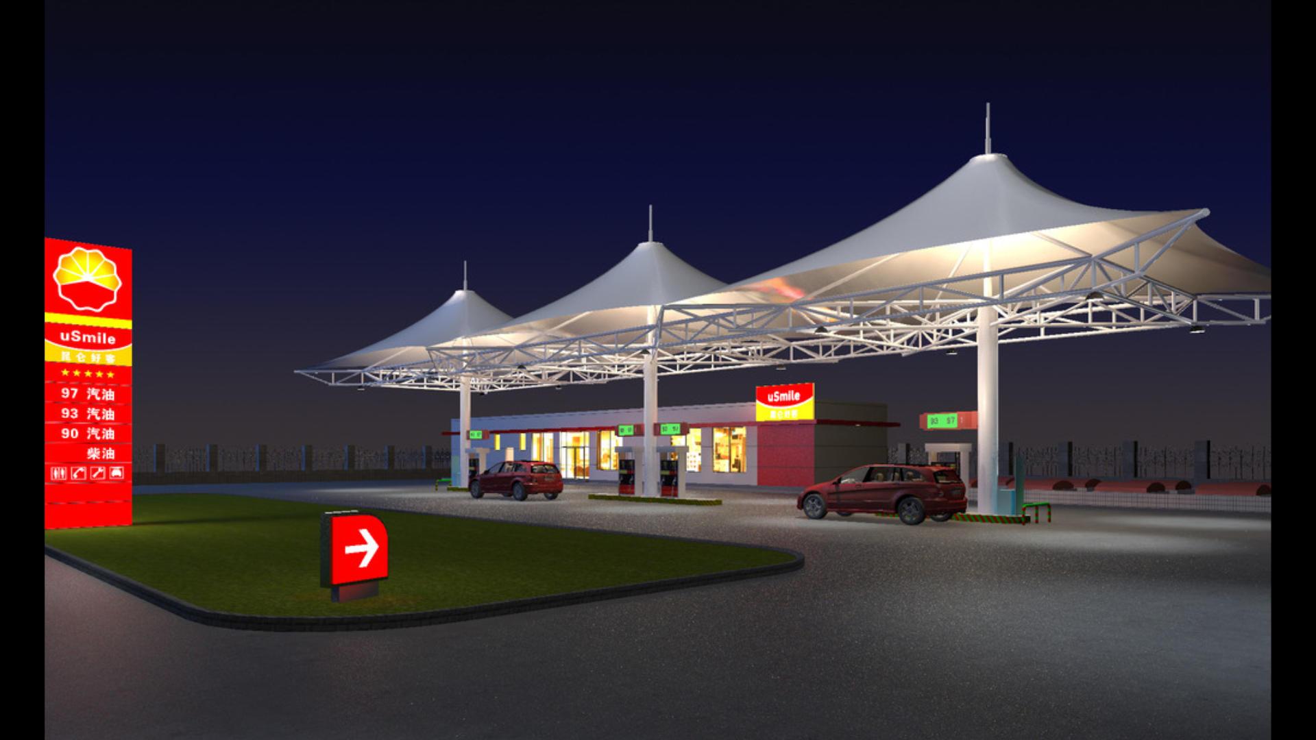 加油站膜结构工程公司-加油站膜结构专业制造厂家