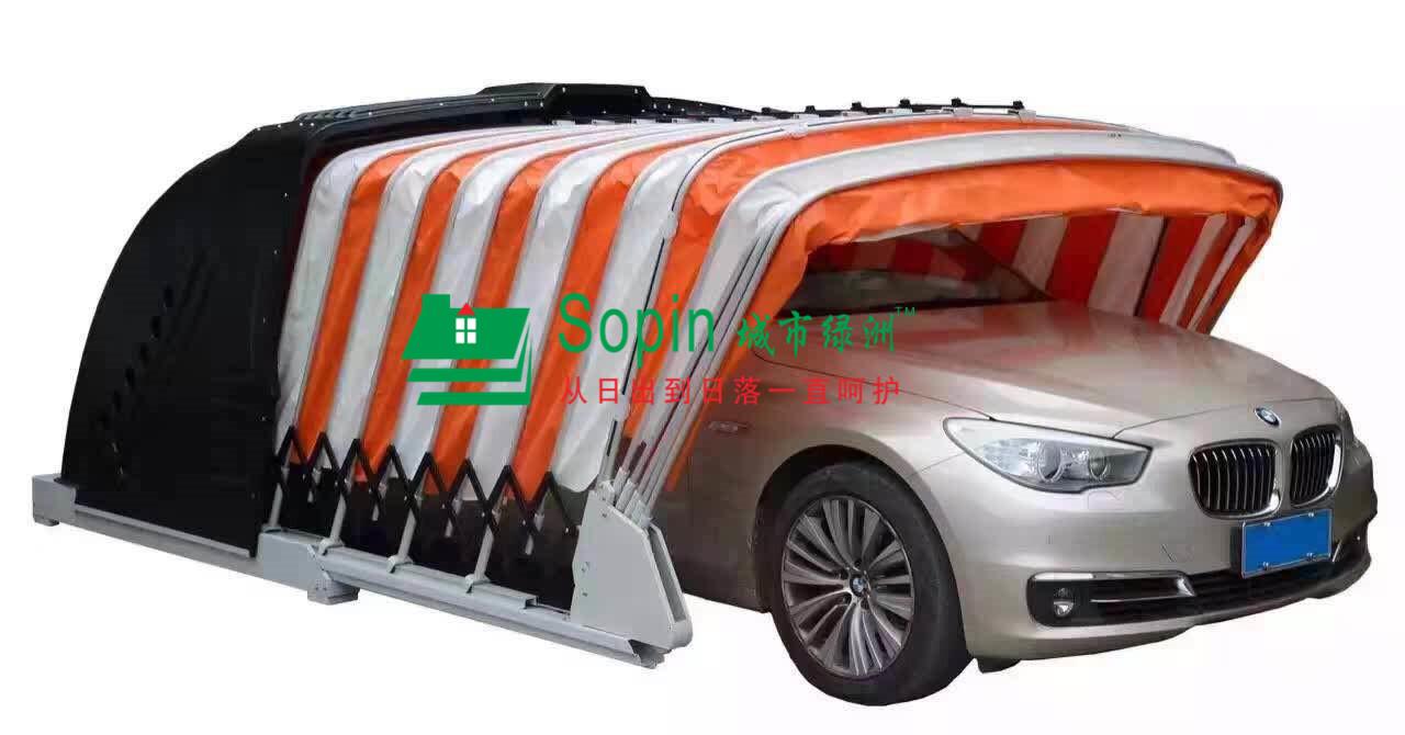 广西伸缩泊车棚-南宁那里有供给格式新的太阳能挪动车库
