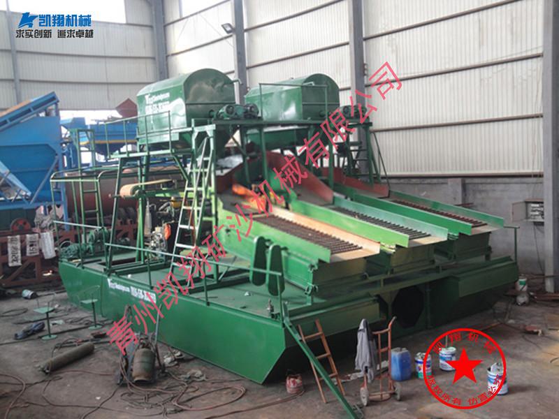 凯翔机械供应价位合理的抽沙淘金船|广东淘金船