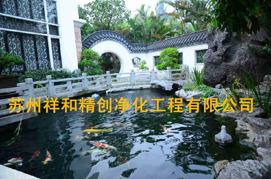 宁德市处理室外景观别墅单位鱼池水发绿,《精创》一步到位