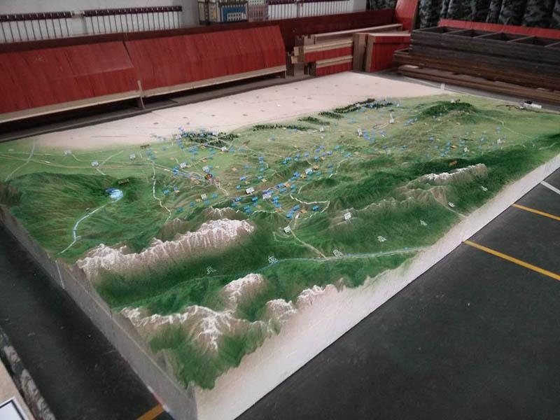 中衛沙盤模型-蘭州銷量好的軍事地形沙盤
