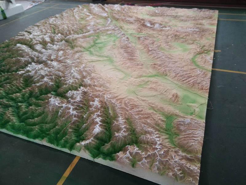 银川军事地形模型-甘肃专业的军事地形沙盘供应