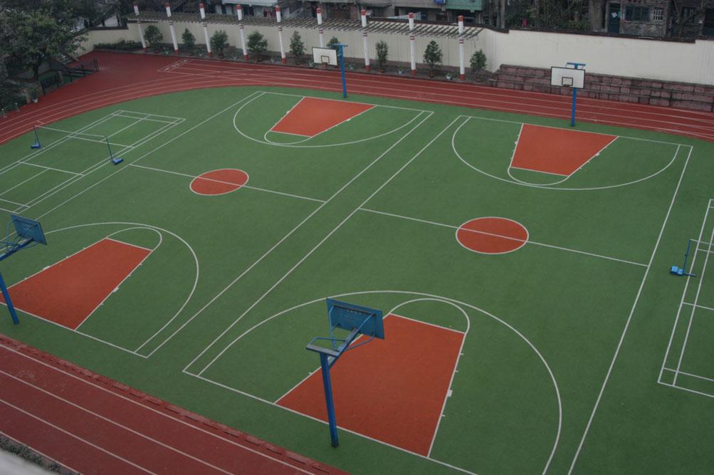 供应四川优良的塑胶球场-德阳塑胶网球场