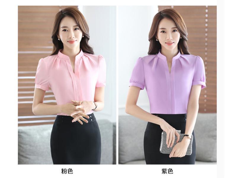 森友制服供应价格合理的女式短袖衬衫|工作服定制