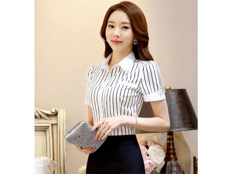 福州女士衬衫-信誉好的女式短袖衬衫厂家