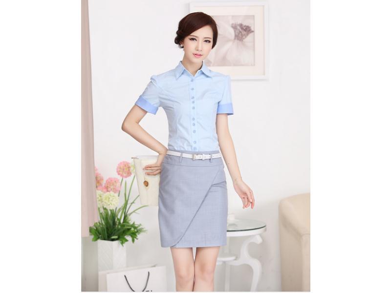 福州女式短袖衬衫-森友制服供应报价合理的女式短袖衬衫