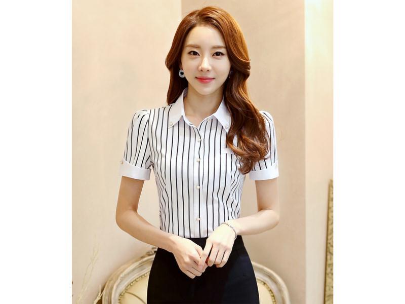 福建女士衬衫-泉州市品牌好的女式短袖衬衫批发
