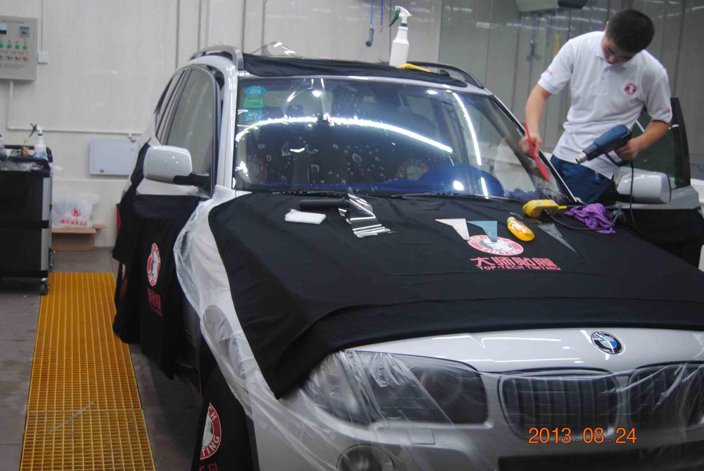 哪家公司汽车贴膜实惠,光明宝马贴膜
