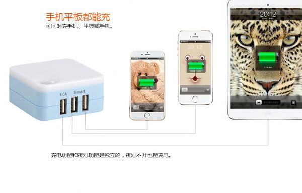 多口充電器-買實惠的智能夜燈充電器,就選譽爍鑫電子