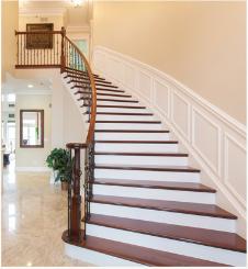 莆田区域品牌好的室内木质楼梯 泉州实木楼梯厂家直销