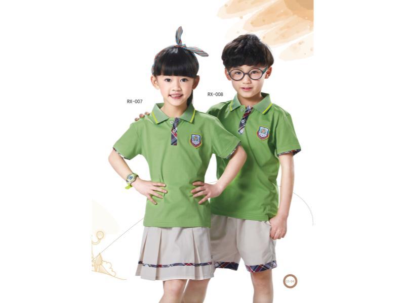 中小学夏季校服厂家_想买划算的夏季校服,就到睿星服装