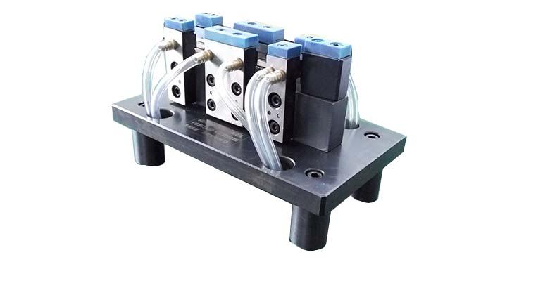 口碑好的气动量仪检具哪里有卖——广东气动量仪检具五联式曲轴主副轴外径测定具冷机零部件检具