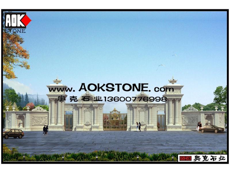 欧式别墅外墙效果图_有品质的欧式别墅外墙干挂石材推荐