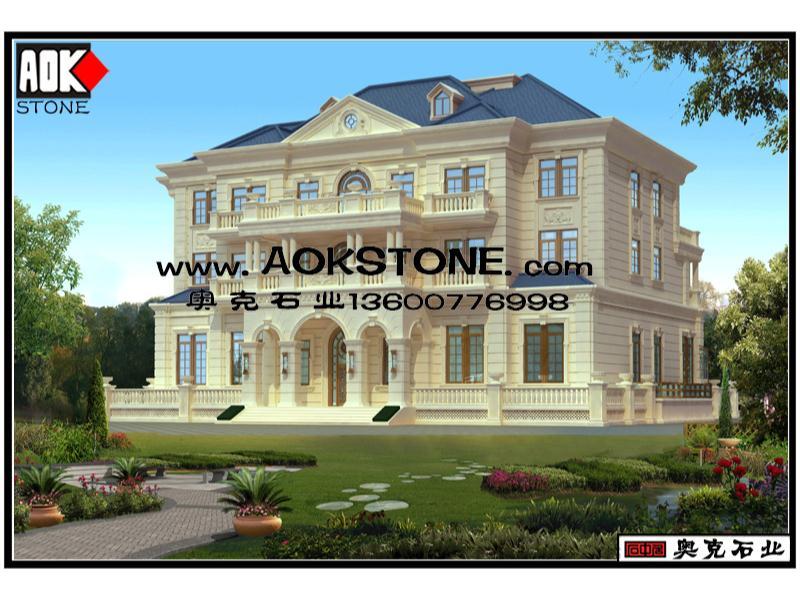 为您推荐泉州奥克石业品质好的欧式别墅外墙农村别墅效果图-干挂石材