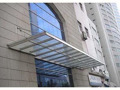 兰州玻璃雨棚定做-甘肃高质量的玻璃雨棚品牌