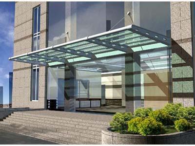优质的玻璃雨棚推荐——白银铁艺护栏
