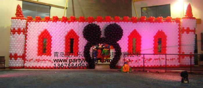青岛一级的青岛气球布置公司_超市元旦