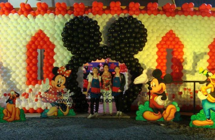 青岛哪里有提供有创意的青岛气球布置_胶南愚人节气球