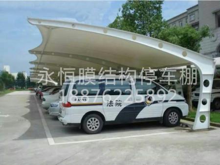 海南膜结构停车棚价格,购买膜结构停车棚就来永恒停车棚
