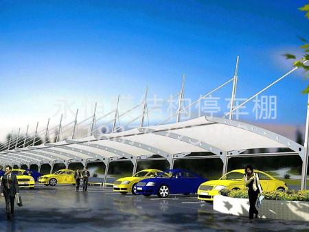 黑龙江膜结构停车棚-福建膜结构停车棚造价