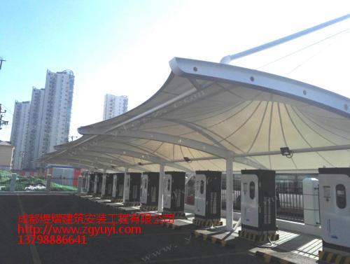 张拉膜结构价格——膜结构车棚施工