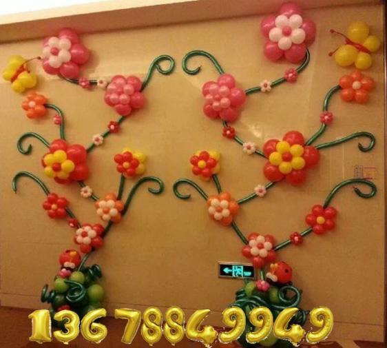 青岛六一节卡通气球布置装饰青岛六一幼儿园气球布置