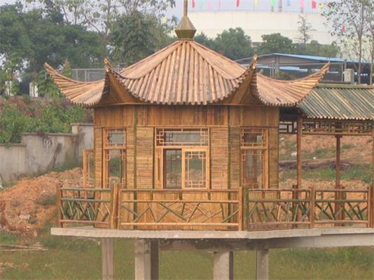 哪里有供应优良竹屋建筑-农家乐竹屋
