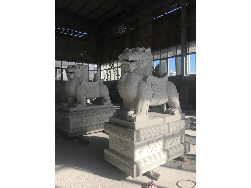 北京动物雕刻_不错的动物雕刻石雕当选海豪园林古建