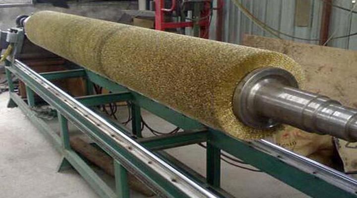 受欢迎的钢丝刷辊推荐 螺旋植毛钢丝刷辊