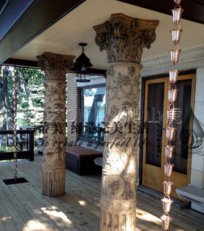 潍坊地区实惠的铝合金水簸萁雨链烟囱帽 铝合金天沟代理加盟
