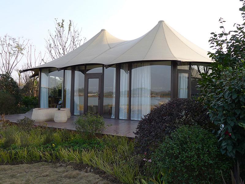 供应广东优惠的帐篷酒店,白色大棚