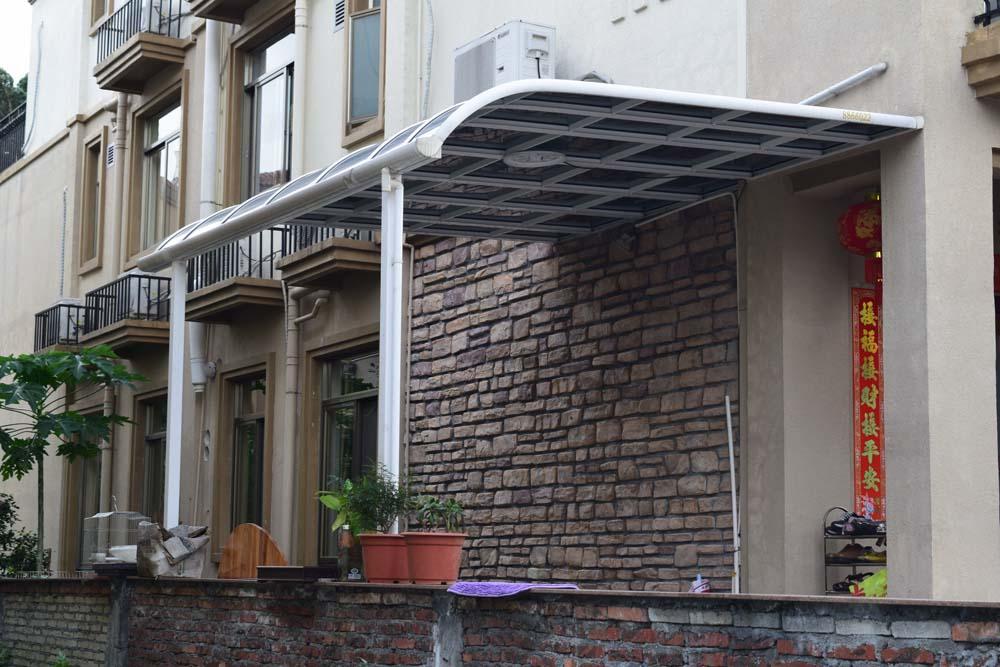 户外铝合金雨棚阳台窗户遮阳棚庭院透明耐力板遮雨棚家用