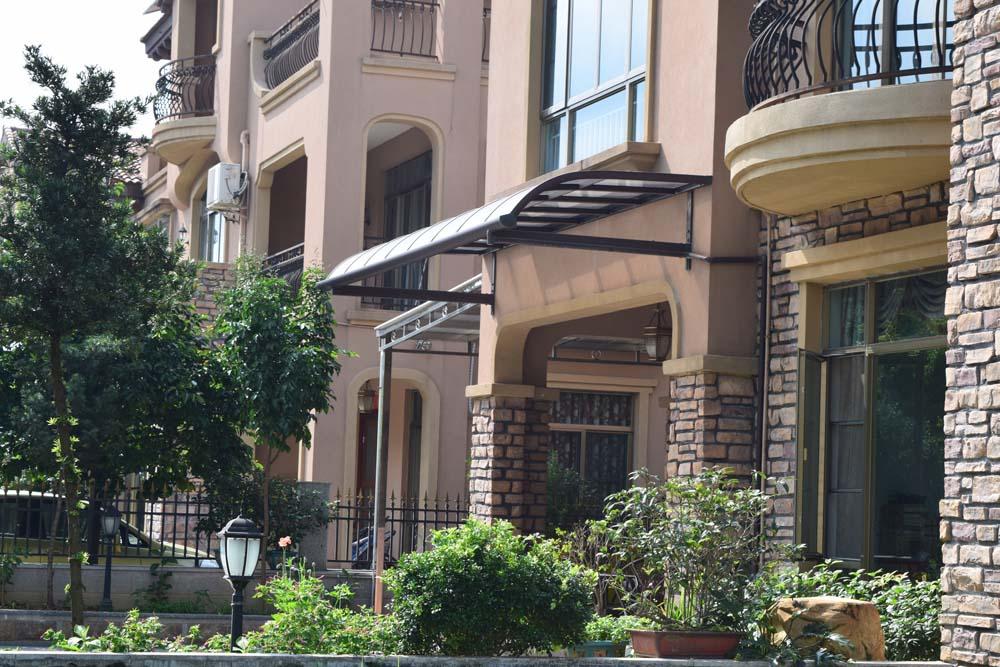 铝合金雨棚露台棚阳台楼顶防晒遮阳棚天台庭院户外雨棚定制