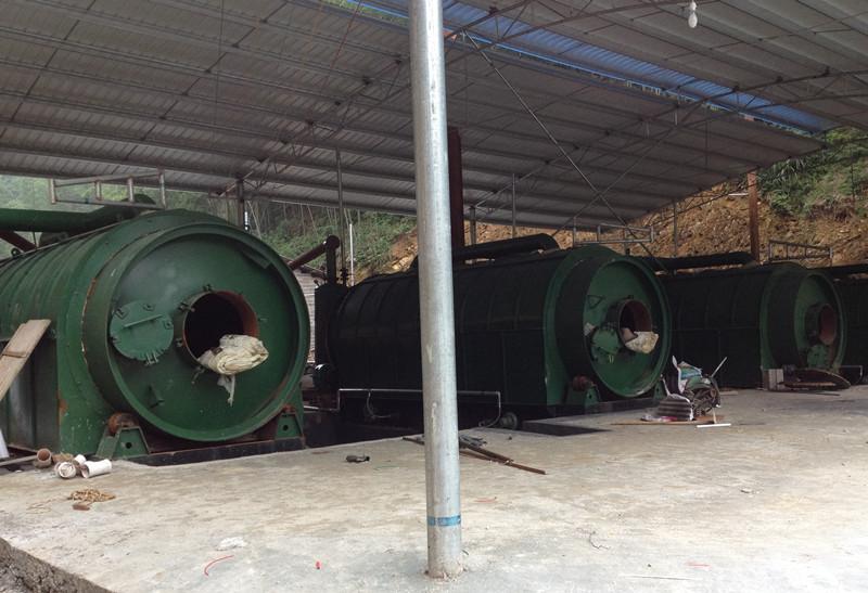 知名的废轮胎环保炼油设备供应商_商丘四海-江苏废橡胶炼油