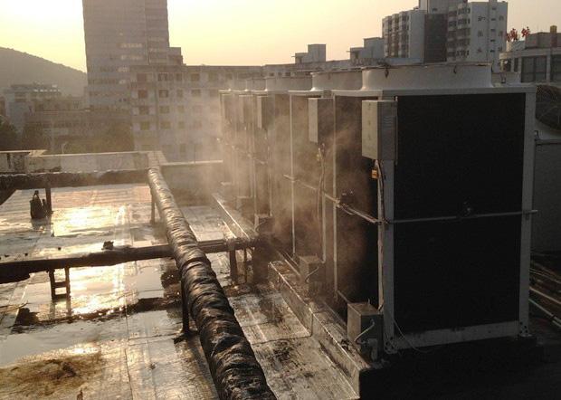 深圳銀行空調室外機噴淋降溫設備工程