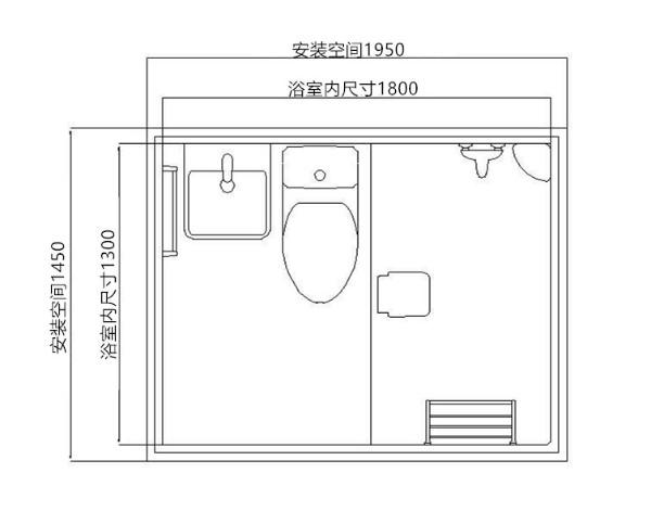 整体浴室安装-品牌BU1318集成卫浴专业供应