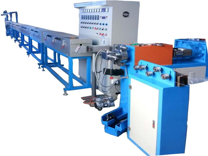 新疆碳纖維矽膠發熱線擠出機 理療儀器發熱線押出機設備
