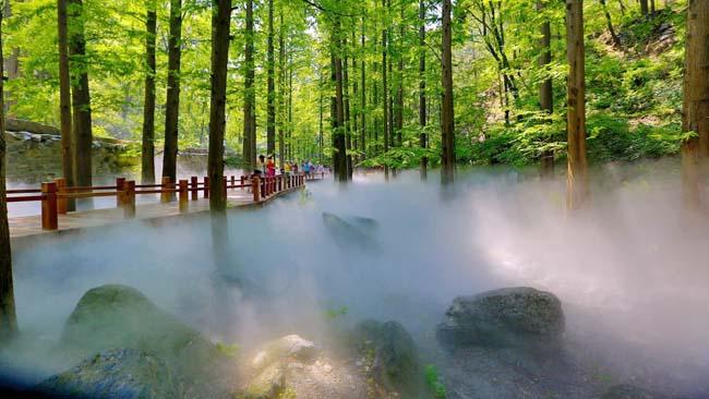 福州人工造雾系统、园林景观造雾工程